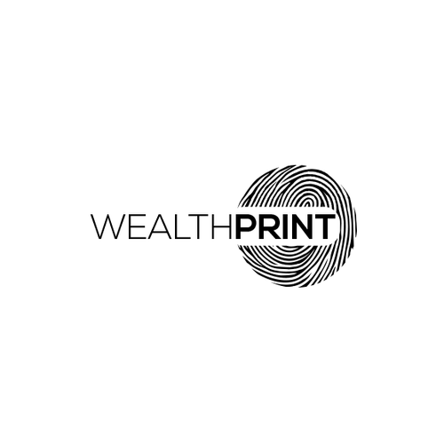 Fingerprint design with the title 'Logo design for the wealthprint'