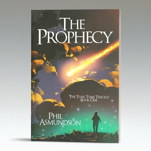 Young adult book cover with the title 'Cover proposal for a science fiction book'