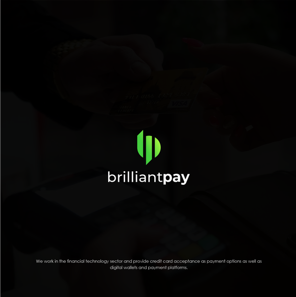 Brilliant logo with the title 'Logo Concept for Brilliant pay'