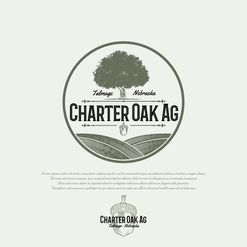 Farm logo with the title 'Charter Oak Ag'