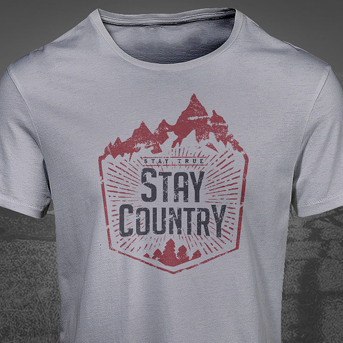 Nice design with the title 'Country Vintage Tshirt'
