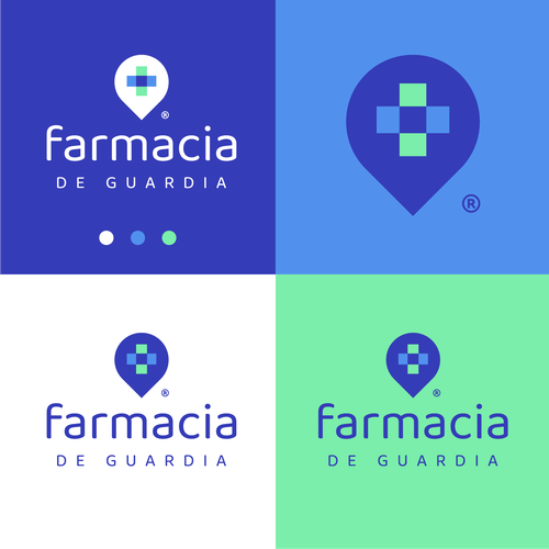 Colorful logo with the title 'Farmacia'