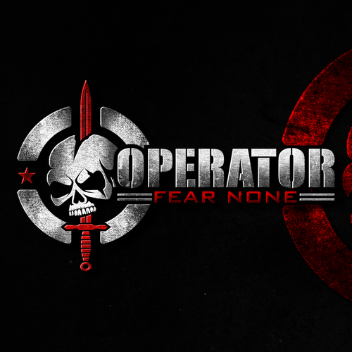 Tactical logo with the title 'Logo design for Operator'