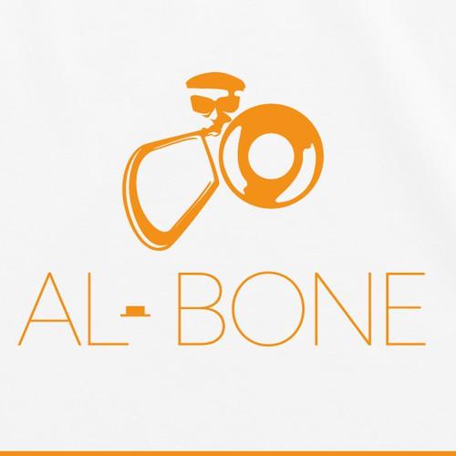 Jazz logo with the title 'Logo musician trombone'