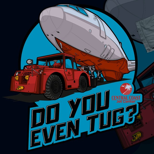 Plane design with the title 'Do you even tug, Bro? t-Shirt'
