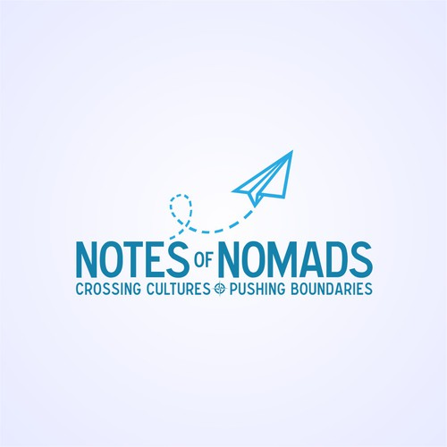 Paper plane logo with the title 'Clean-design for travel brand.'