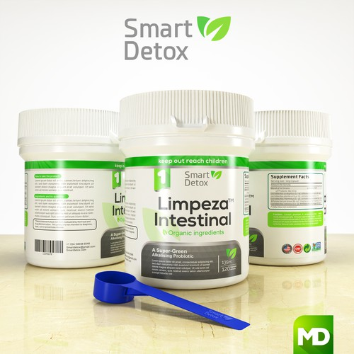 Model design with the title 'SMART DETOX'