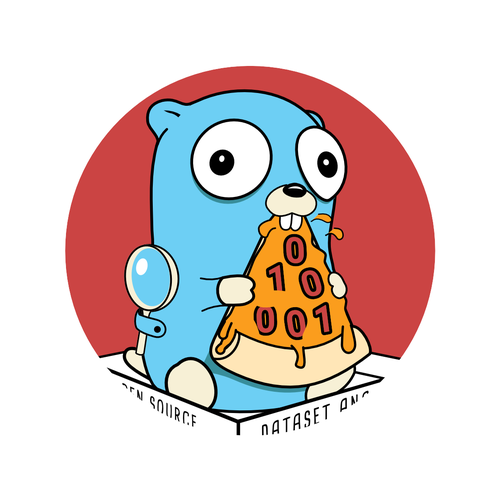 Gopher logo with the title 'fun logo concept for opensource project'