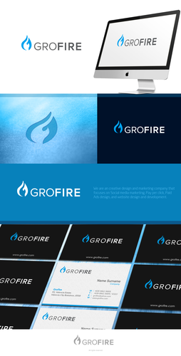 Success logo with the title 'Create a professional logo for GROFIRE'