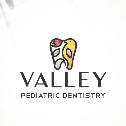 Tooth logo with the title 'Logo for a dental clinic'