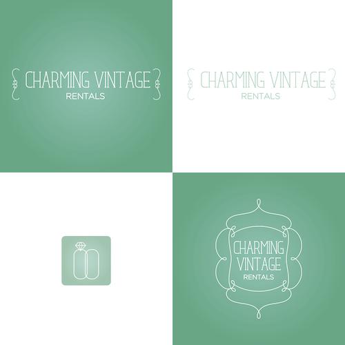 Horizon design with the title 'vintage logo design'
