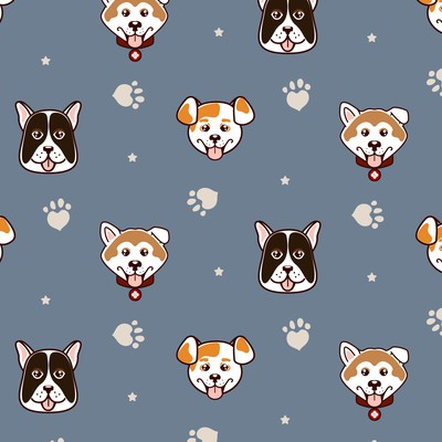 Happy dogs pattern