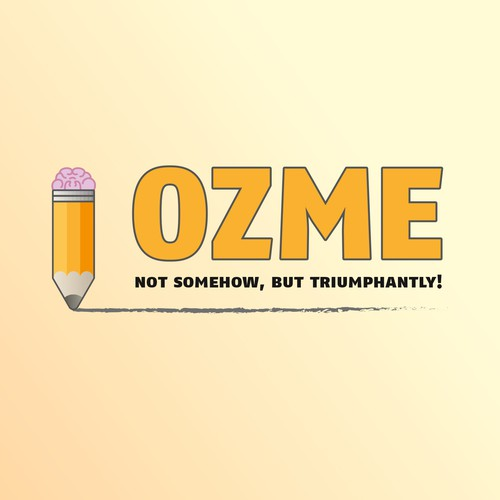 Pink and orange design with the title 'OZME'