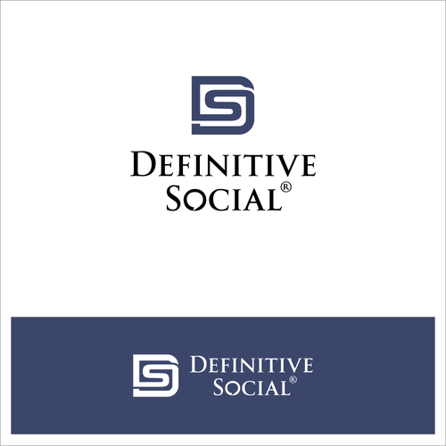 Social networking design with the title 'Definitive Social'