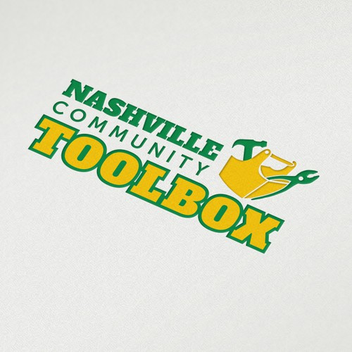 Nashville design with the title 'Create a cool logo for a great nonprofit - Nashville Community ToolBox'