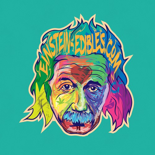 Streetwear t-shirt with the title 'Psychedelic Einstein '