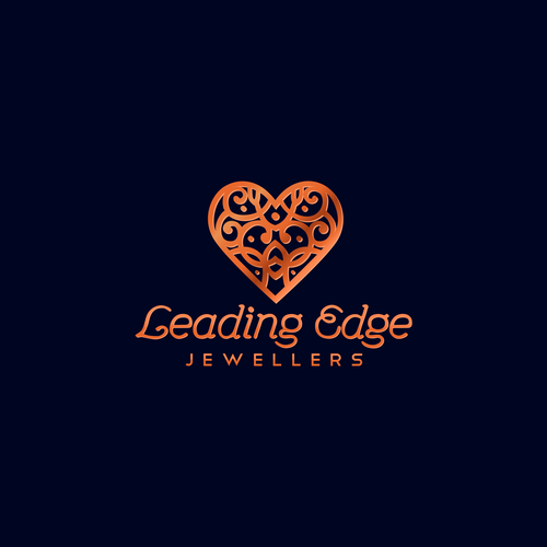 Jewelry logo with the title 'Leading Edge logo concept'