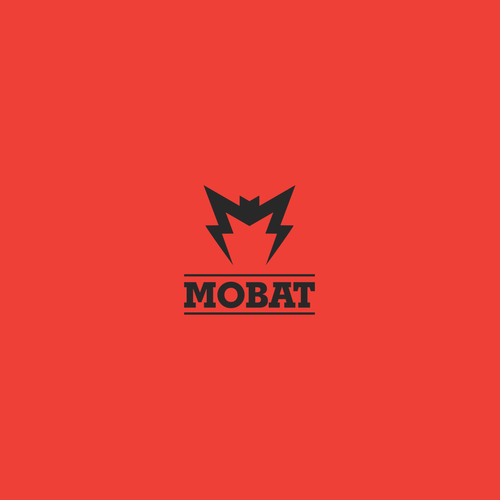 Bat design with the title 'Logo for the battery manufacturer'