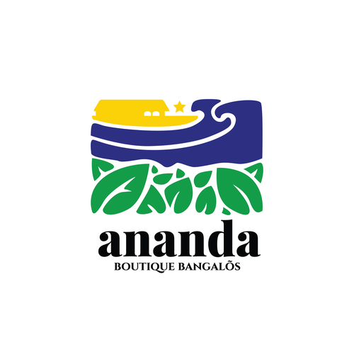 Brazil logo with the title 'cesign logo concept for Ananda Boutique Bangalos'
