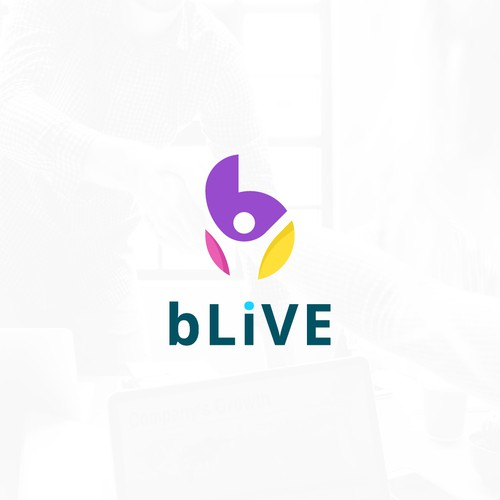 Youthful design with the title 'bLive '