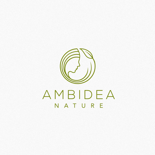 Face brand with the title 'Logo Concept for Ambidea Nature'