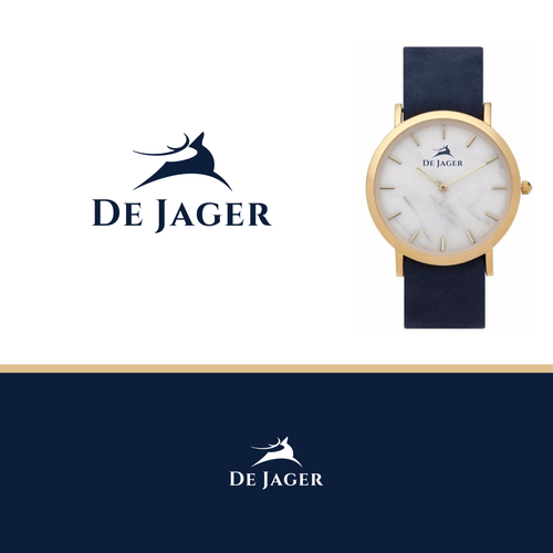 Platinum logo with the title 'bold logo for De Jager'