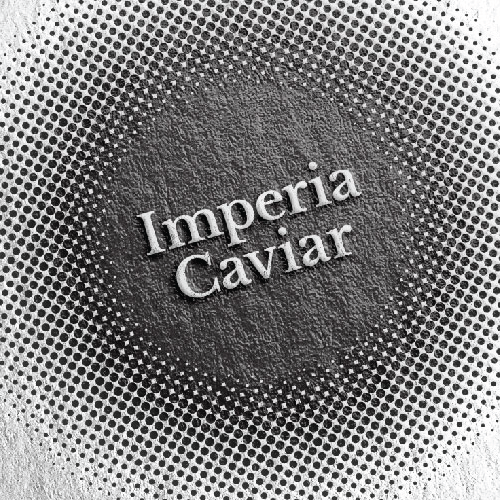 Dot design with the title 'Imperia Caviar'