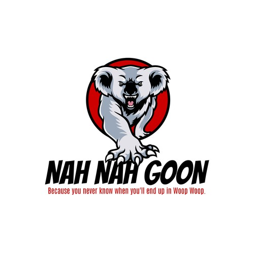 Steel design with the title 'nah nah goon designs , changing the world, maybe.'