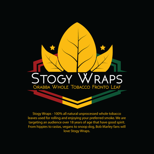 Rasta design with the title 'Stogy Wraps Logo'