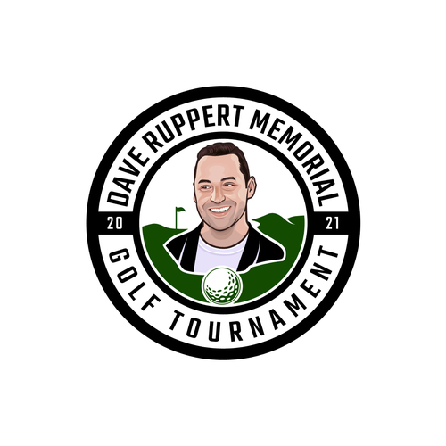 Tournament logo with the title 'Dave Ruppert Memorial Golf Tournament Logo'