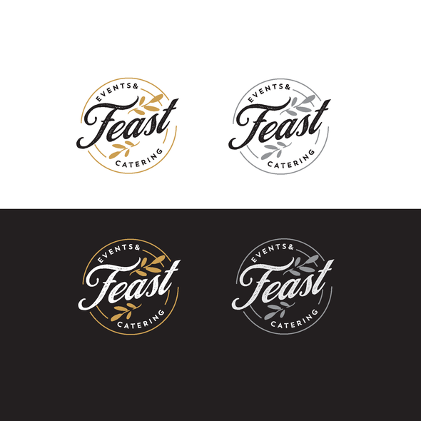 Food design with the title 'Feast Events & Catering'