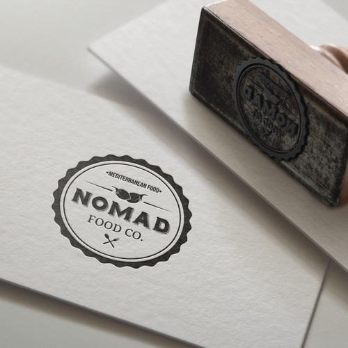 Cafe brand with the title 'Nomad Food'