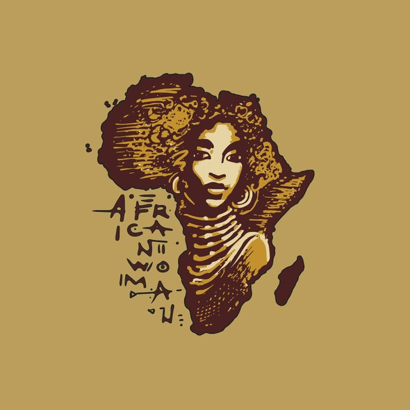 African design with the title 'African Woman T-shirt'