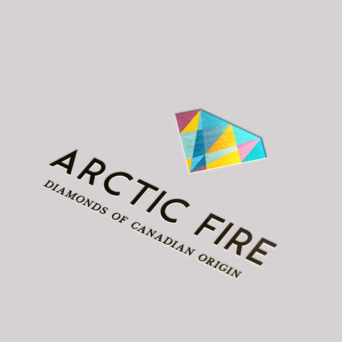 Jewelry logo with the title 'Colourful Abstract Diamond'