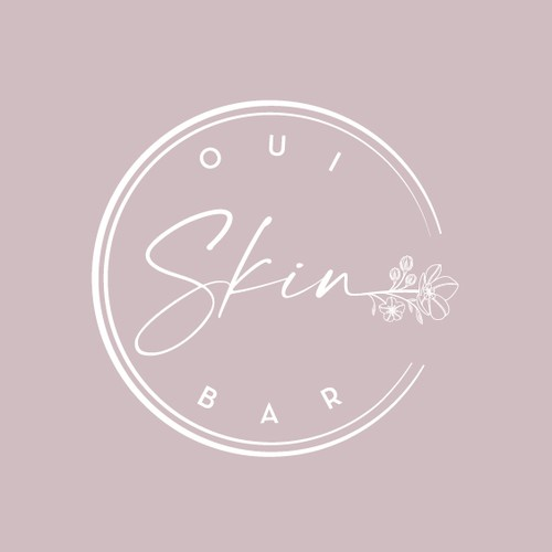Skin care design with the title 'Oui Skin Bar'