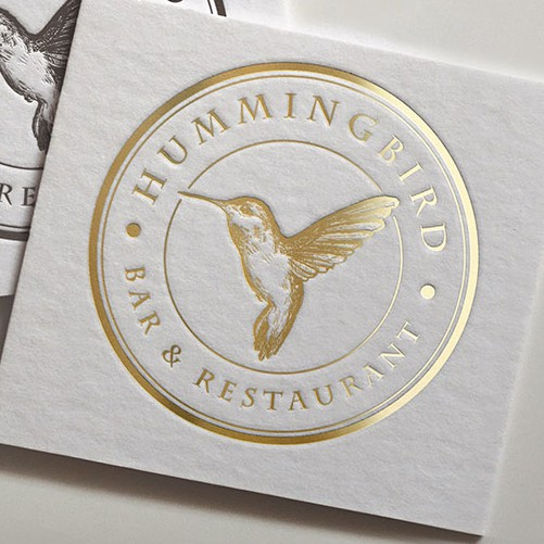 Letterpress design with the title 'Restaurant logo'