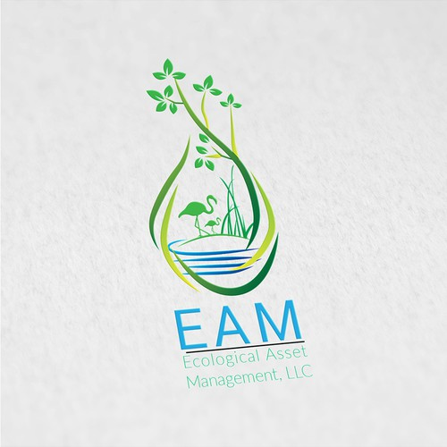Asset management logo with the title 'Ecological Asset Management, LLC '