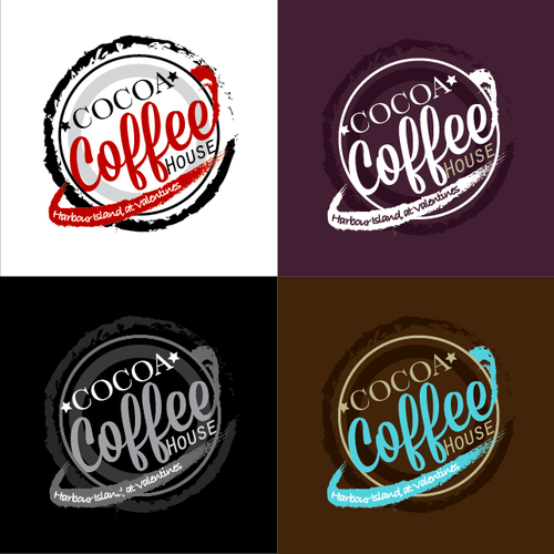 Java design with the title 'Cocoa Coffe House '