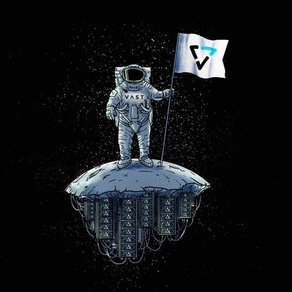 Sci-fi t-shirt with the title 'VASTronaut Tee'