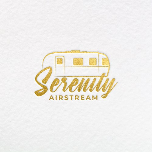 Trailer logo with the title 'Serenity Airstream logo'