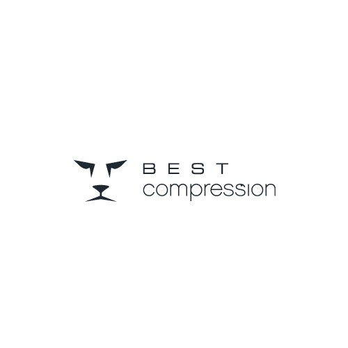 Head logo with the title 'Create the next logo for Best Compression'