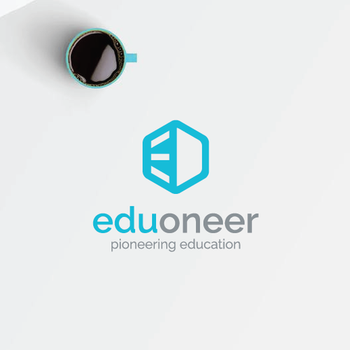 Education brand with the title 'Design Brand Identity for Eduoneer'