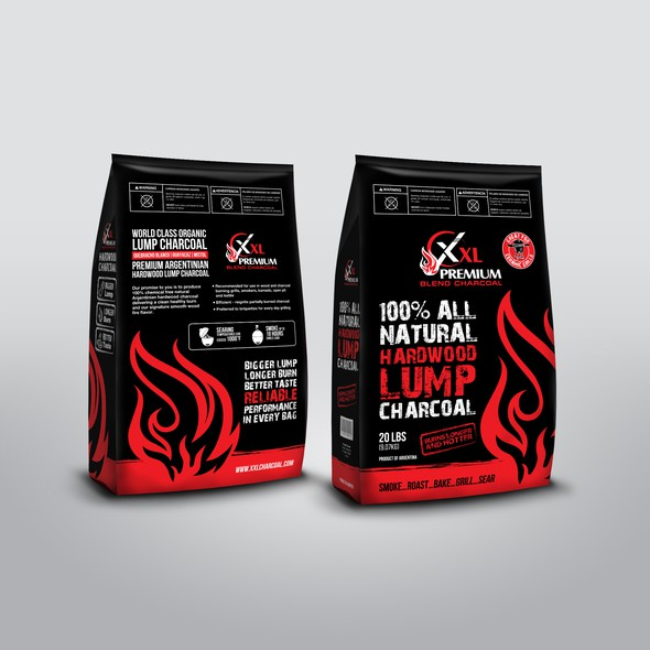 Charcoal design with the title 'Unique Charcoal Package'