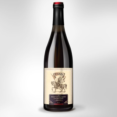 Label Design for Italian wine Montepulciano D'Abruzzo