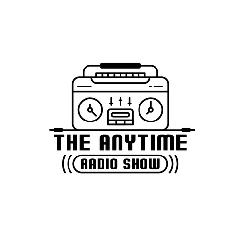 Wedding logo with the title 'Boombox - Clock Logo'