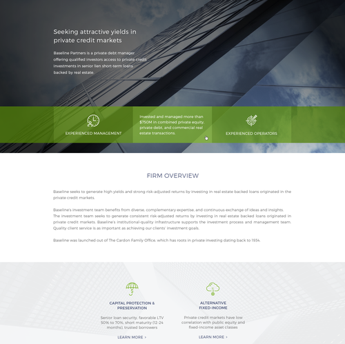 Wealth design with the title 'Web Redesign For Real Estate Investment Firm'