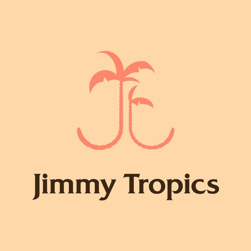 Tropical leaf logo with the title 'Hawaiian theme for tropically inspired clothing'