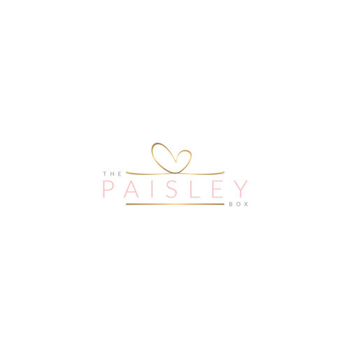 Gift box logo with the title 'The Paisley Box'
