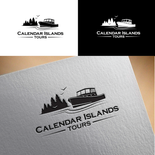 Tourism brand with the title 'Concept for tours in Maine'