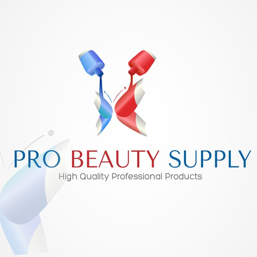 Nail polish logo with the title 'Pro Beauty Supply logo'